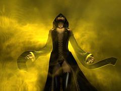 wizard woman - stock photo