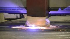 Walters Group Plasma Cutter Stock Footage