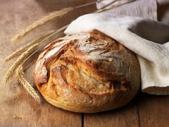 fresh baked bread - stock photo