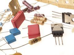 Electronic parts Stock Photos