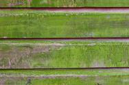 Stock Photo of horizontal plank wall with green mold