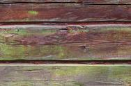 Stock Photo of horizontal timber wall with green mold