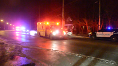 Hamilton Ambulance Leaving Scene Stock Footage
