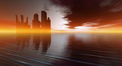 Tulevaisuuden kaupunki Kuvituskuvat