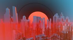 Future city Stock Photos