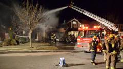 Niagara Region House Fire Stock Footage