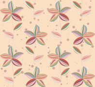 abstract flowers petal - stock illustration