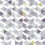 pattern of gray triangles with a lilac shade - stock illustration