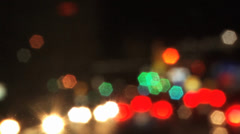 Bokeh Lights (Driving View) Stock Footage