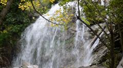 mountain waterfall - stock footage