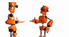 Talking Robots - stock photo