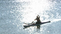 Canoeing Sailing Water Vancouver British Columbia Canada Stock Footage