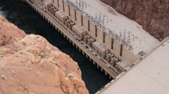 Hoover Dam Lake Mead Reservoir Nevada Arizona Stock Footage