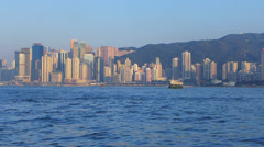 Asia China Hong Kong skyline metropolis high-rise building Stock Footage