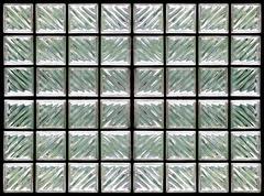 Pattern of glass block wall Stock Illustration