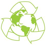 Planet Earth with Recycle Symbol Stock Illustration