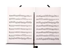 music stand with melody sheets - stock photo