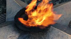 The Eternal Flame in Chernigov, Ukraine Stock Footage