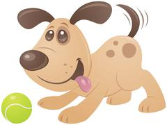 Playful Puppy Stock Illustration