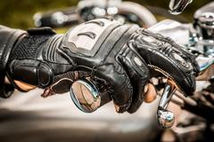 Motorcycle racing gloves Stock Photos