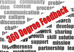 360 degree feedback Stock Illustration