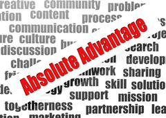 Stock Illustration of absolute advantage word cloud