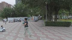 Life nside Taipei's largest park - Daan Stock Footage