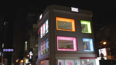 Color building in hip Zhongxiao Dunhua East soho Stock Footage