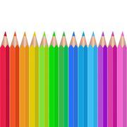 colored pencils vector illustration - stock illustration