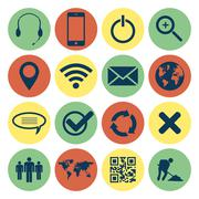 Stock Illustration of retro web and mobile icons
