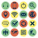 Retro web and mobile icons Stock Illustration