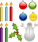 Christmas clipart Stock Illustration