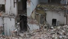 Demolished house Stock Footage
