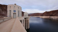Stock Video Footage of Hoover Dam Lake Mead Reservoir Nevada Arizona