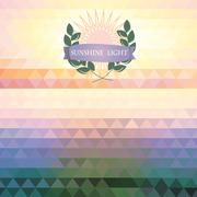 abstract geometric background of the triangle - stock illustration