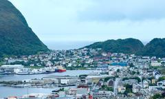 alesund town (norway) - stock photo