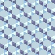 Stock Illustration of seamless pattern of blue triangles