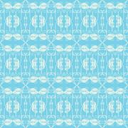 Stock Illustration of neutral floral ornament. cool blue