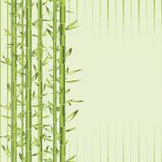 Stock Illustration of green bamboo with stripe
