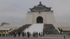National Chiang Kai-shek Memorial Hall - shot of front entrance Stock Footage