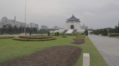 National Chiang Kai-shek Memorial Hall - shot of main temple from ground level Stock Footage