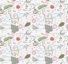 Stock Illustration of pickled cucumbers, seamless pattern
