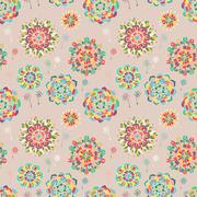 Stock Illustration of seamless texture with bright colorful flowers