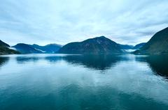 geiranger fjord (norge) - stock photo