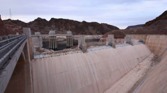 Hoover Dam Lake Mead Reservoir Nevada Arizona Stock Footage