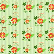 Floral decoration, seamless pattern Stock Illustration