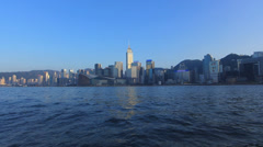Asia China Hong Kong skyline of Wanchai n Causeway Bay - stock footage