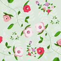 Stock Illustration of floral decoration, seamless pattern