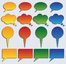 Stock Illustration of colorful colletion of speech bubbles