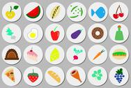 Stock Illustration of food icons